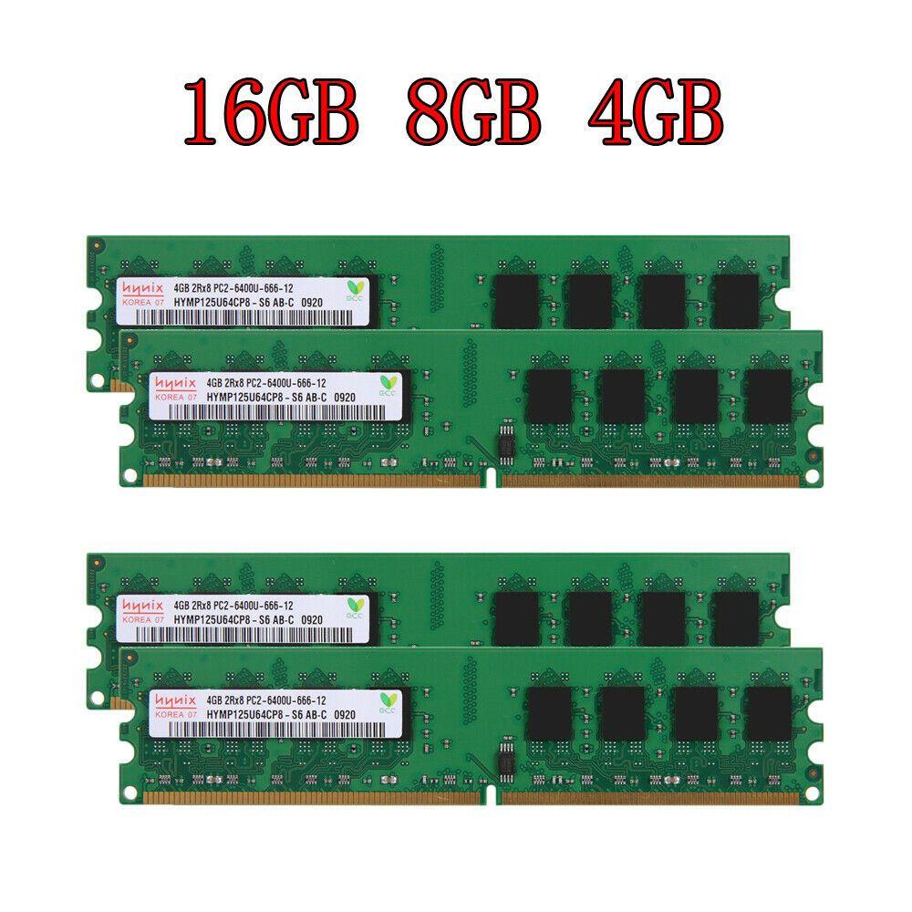For Hynix PC2-6400U 16GB 8GB 4GB 2GB DDR2-800Mhz 240Pin DIMM Desktop Memory LOT