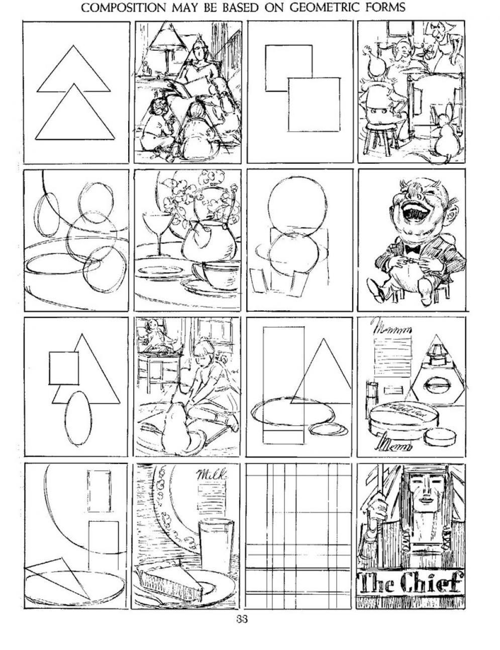 COMPOSITION: Using geometric shape for composition. | 9~ART LESSON ...