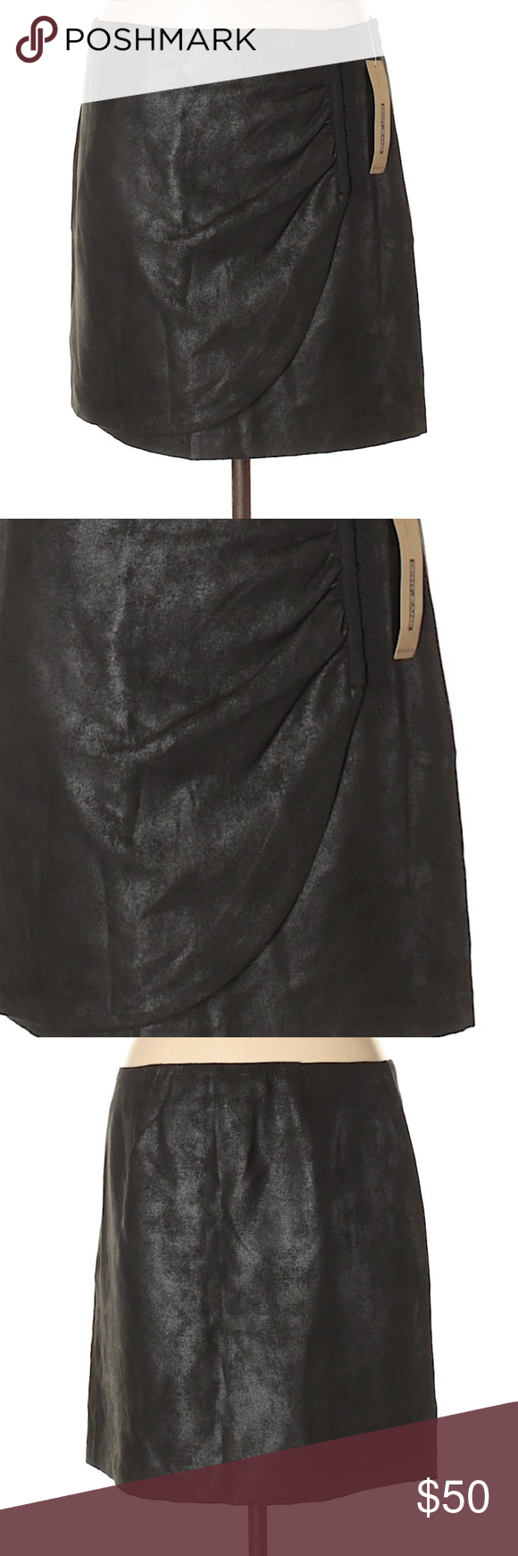 0e92d70d29 NWT DKNY faux leather/suede skirt, M New with tags, DKNY Jeans black ...
