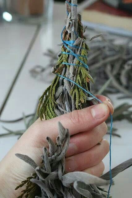 Sage, cedar & lavender , DIY smudge sticks