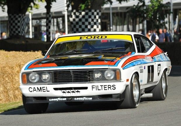 Ford Falcon XC GS500 that won the 1977 Bathurst 1000 in Australia with national hero Alan Moffatt and Belgian all-rounder Jacky Ickx.