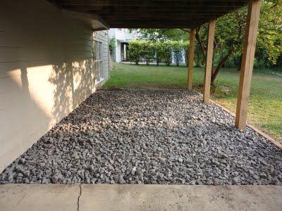 stone under deck