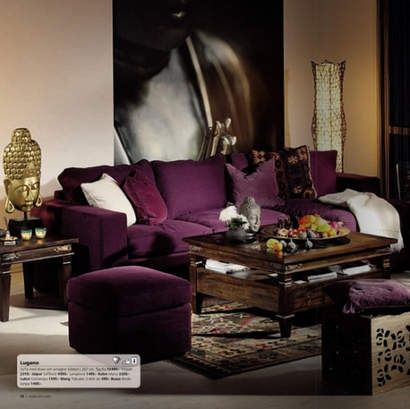Plum Color Sofa And Sectionals Love
