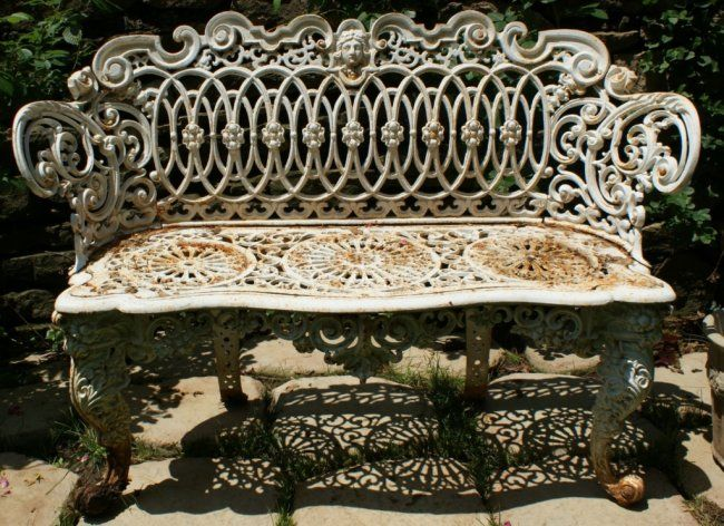 A Victorian Rococo Style Cast Iron Garden Bench Lot 91