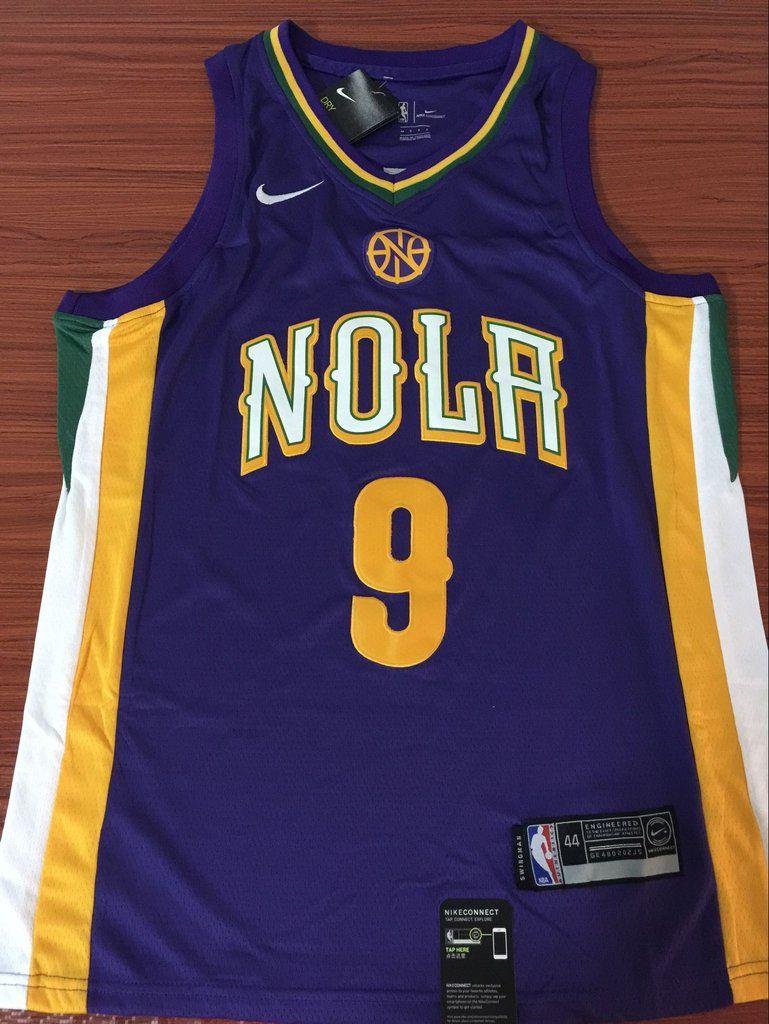 2ed44da8843 Men 9 Rajon Rondo Jersey Purple New Orleans Pelicans Swingman Fanatics