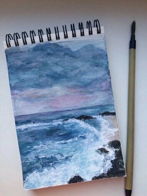 Imagem de art, sea, and blue