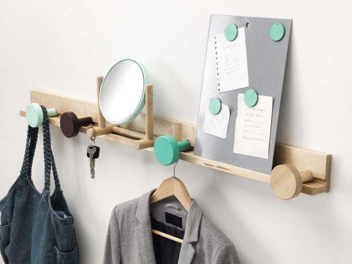 IKEA PS 2014 wandlijst met knoppen | #IKEA #DagRommel #hal #gang #wandplank #rail #spiegel