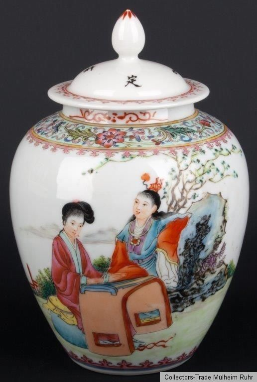 China 20. Jh. Topf - A Chinese Famille Rose Jar & Cover - Fencai Cinese…