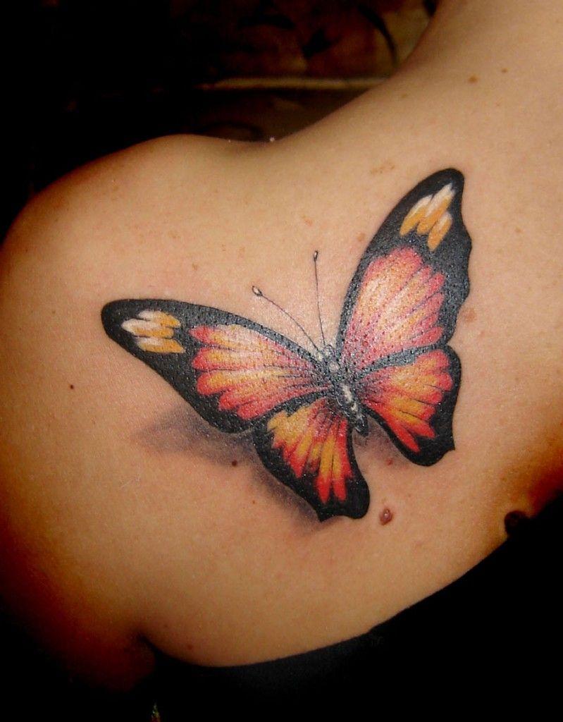 Superior Tatouage Papillon Epaule Femme 9 Papillon Tatouage Bas Du