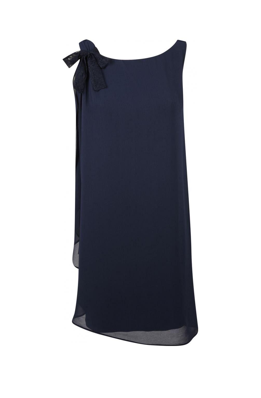 Bleu Naf Avec Noeud Nuit Robe Fluide Dentelle 1Mariage En wONn0kX8P