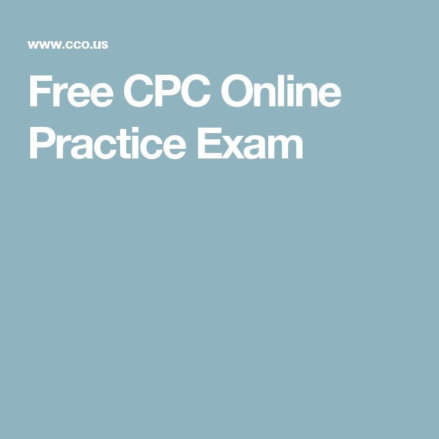 free cpc online practice exam | stuff to buy | pinterest | practice ...