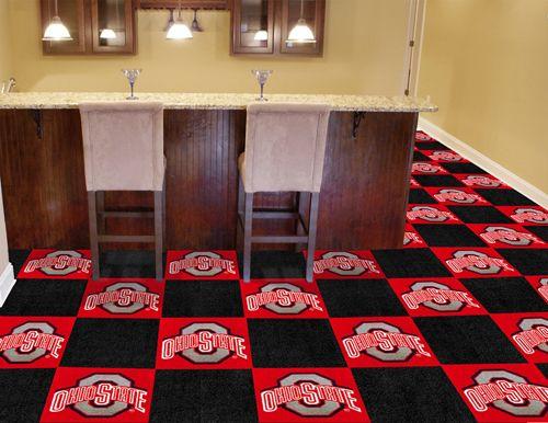 Ohio State University Buckeyes Ncaa Fanmats Carpet Tilesteam And Sport Rugs Teppich Ohio Deko Ideen