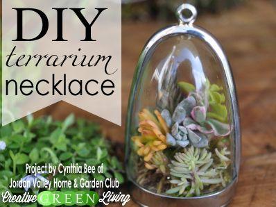Make A DIY Living Terrarium Plant Necklace Terrarium Necklace - Amazing diy non living terrarium