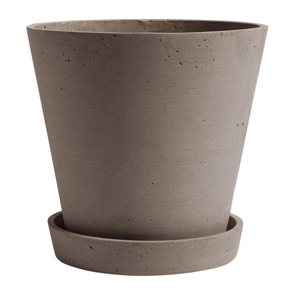 Buy HAY Polystone Flowerpot & Saucer - Terracotta - Extra Large | Amara ,  #Amara #Buy #extra #flowerpot #gardenpots #hay #large #Polystone #saucer #Terracotta