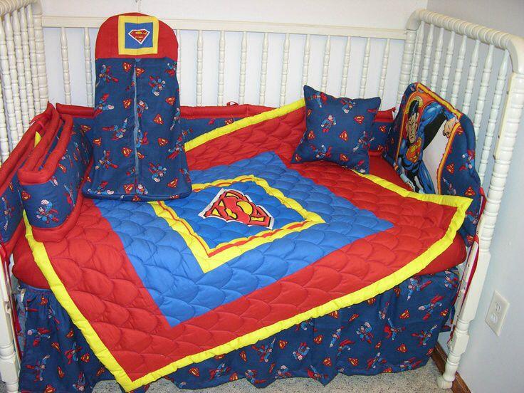 Superman Crib Bedding Set 1 Superman Nursery Superman Baby