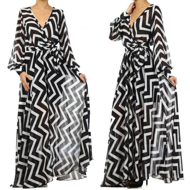9741c6eb94f FULL SWEEP Chiffon MAXI DRESS Wrap SHEER Blouse Gown CRUISE Long Skirt  PARTY vtg