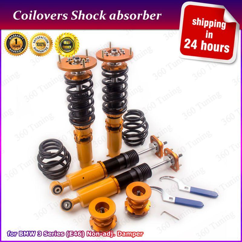Coilovers Coil Spring Strut For Bmw E46 3 Series 320i 323i 323ci 325ci Adj Mount Non Adjustable Damper Coilovers Absorber Strut Coilovers Bmw Bmw E46