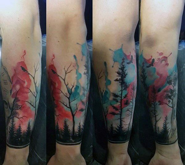 top 101 forest tattoo ideas 2020 inspiration guide wrist tattoos for guys forest tattoos arm band tattoo top 101 forest tattoo ideas 2020