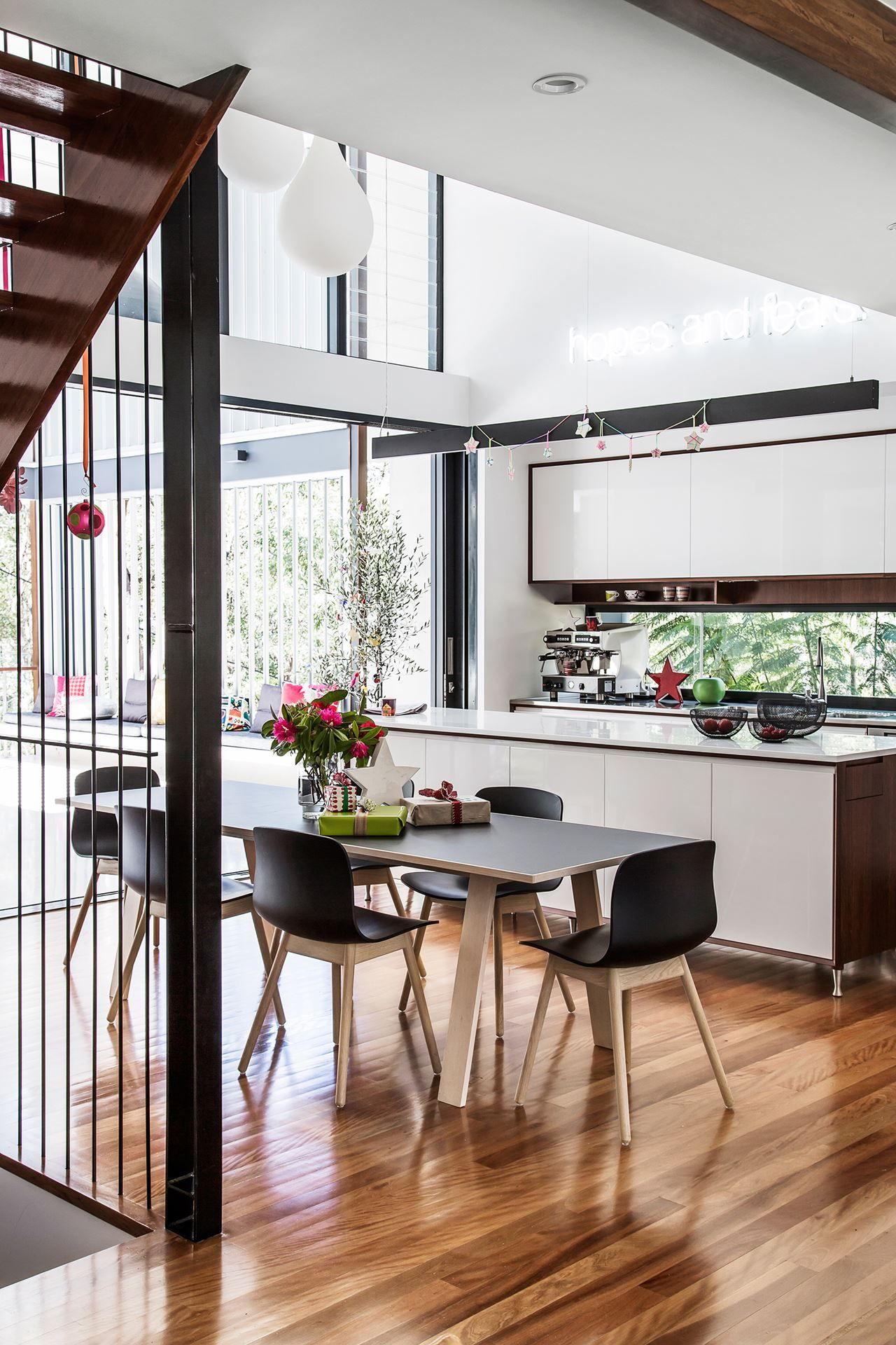 Kylie and Anthony\'s Modernist Makeover | Kitchen dining, Cupboard ...