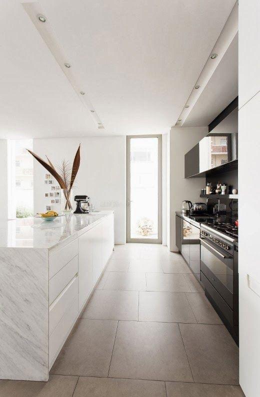 cocina blanca combinada con gris antracita | casa | Pinterest | Kitchens