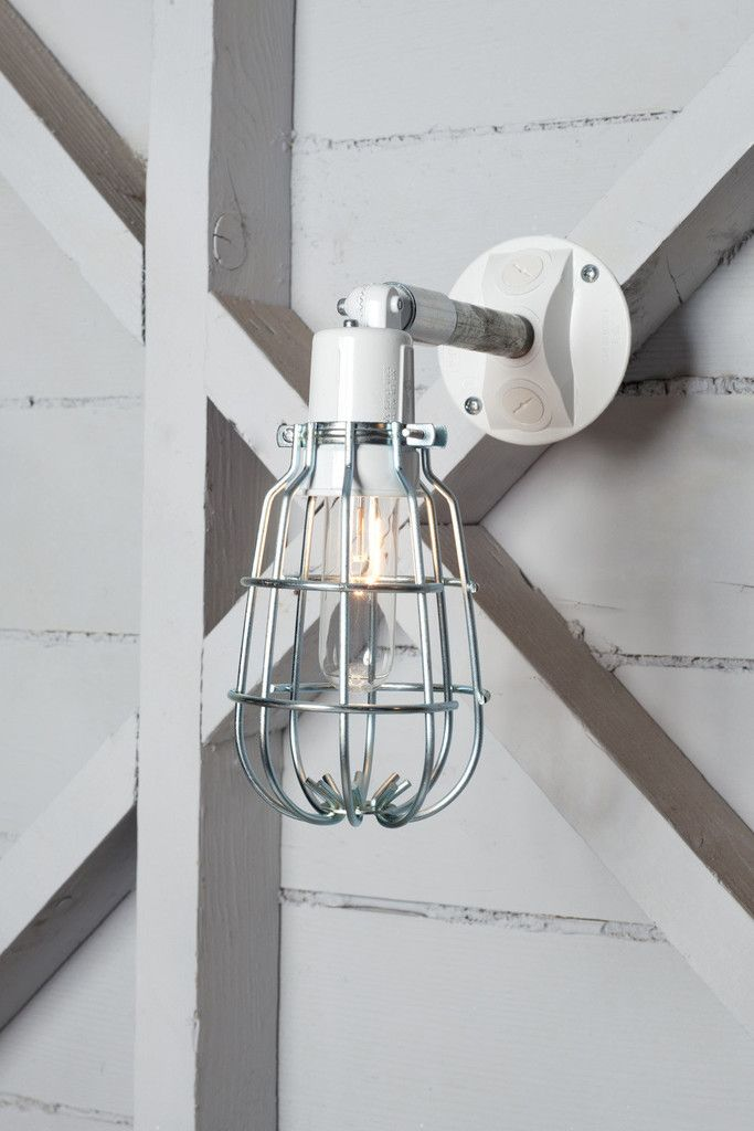 Industrial wall light outdoor wire cage exterior wall sconce lamp
