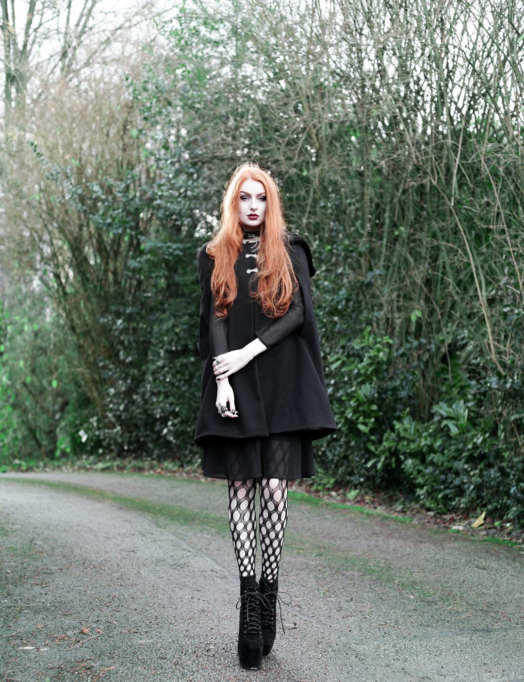 69c865701bc Olivia Emily wears Dark Thorn Clothing Myrtle Cape
