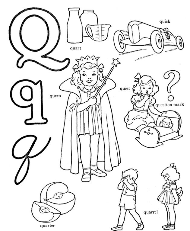 Q For Coloring Activity Alphabet Coloring Pages Alphabet Coloring Coloring Pages