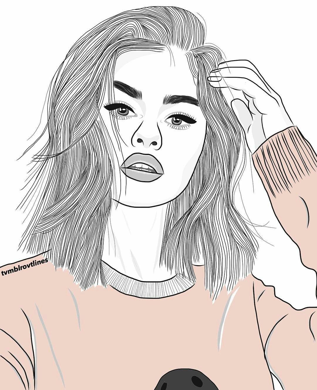 Trumbl Menina Tumblr Desenho Desenhos Hipster Desenhos Tumblr