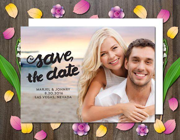 Photo Save the Date Invitation. Invitation Templates. $6.00
