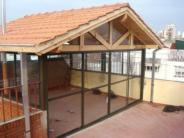 Ventanas de aluminio techos policarbonato vidrio chapa for Pergola policarbonato