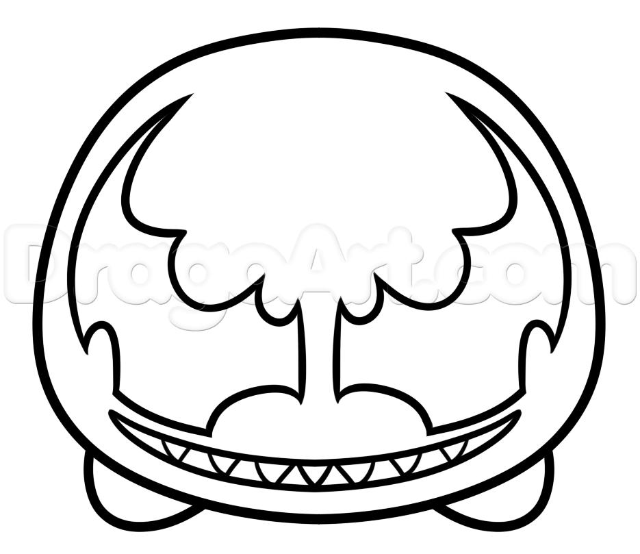 How To Draw Tsum Venom Step 4
