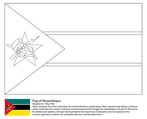 Flag Of Mozambique Coloring Page Free Printable Coloring Pages Flag Coloring Pages Coloring Pages Coloring Pages Inspirational