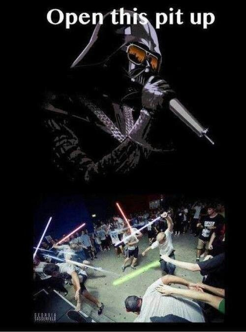 Star Wars Mosh Pit Mosh Pit Funny Pictures Music Memes