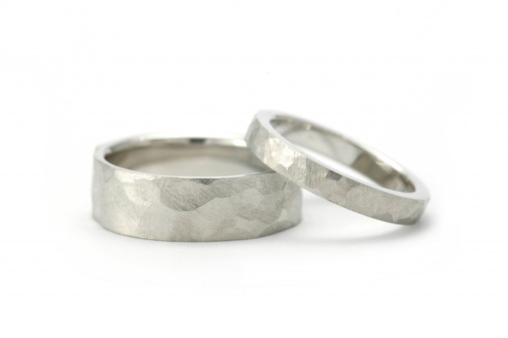 Hammered Platinum Wedding Bands Mccaul Goldsmiths Hammered Wedding Rings Hammered Wedding Bands Platinum Wedding Band