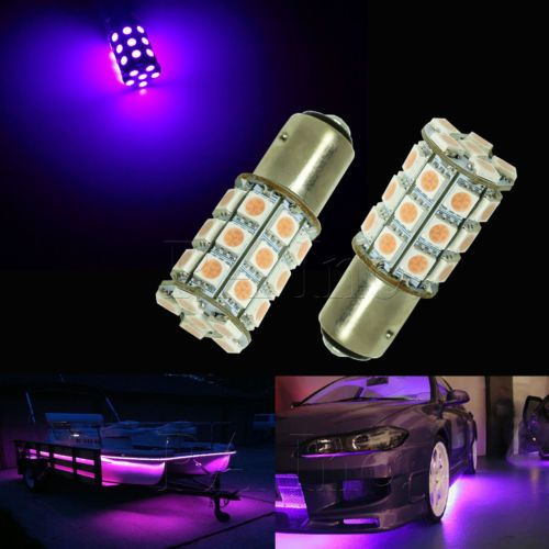 2x 1157 Dual Switching Smail Size Tail Stop Light Bulb 30 Smd Led Pink Purple Stop Light Led Pink Purple