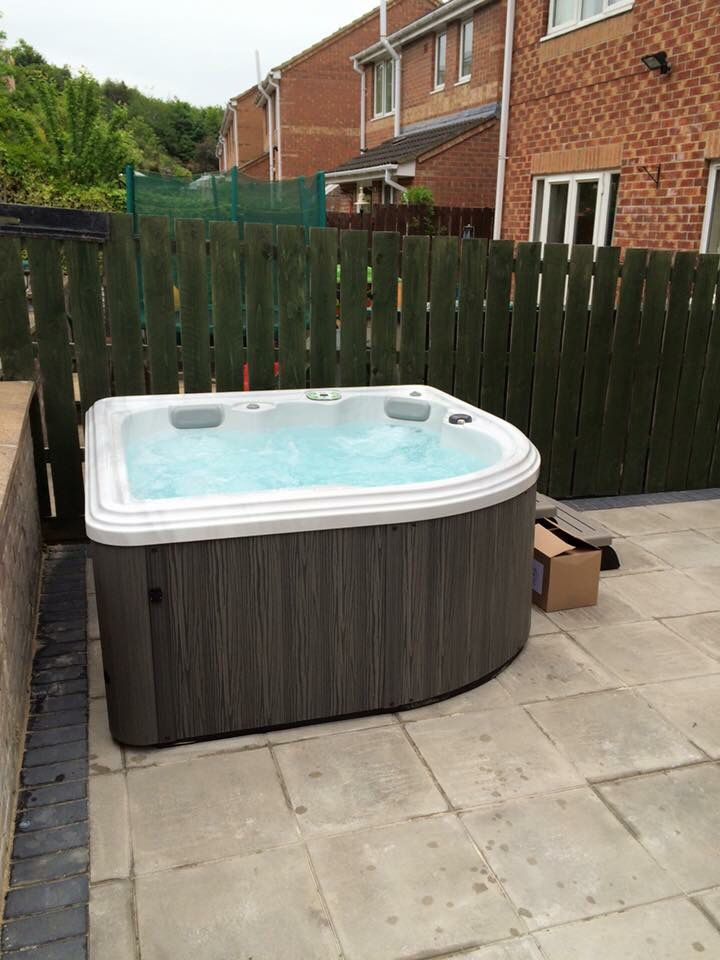 Introducing the Camellia, a small corner Hot Tub | Hot Tub Designs ...