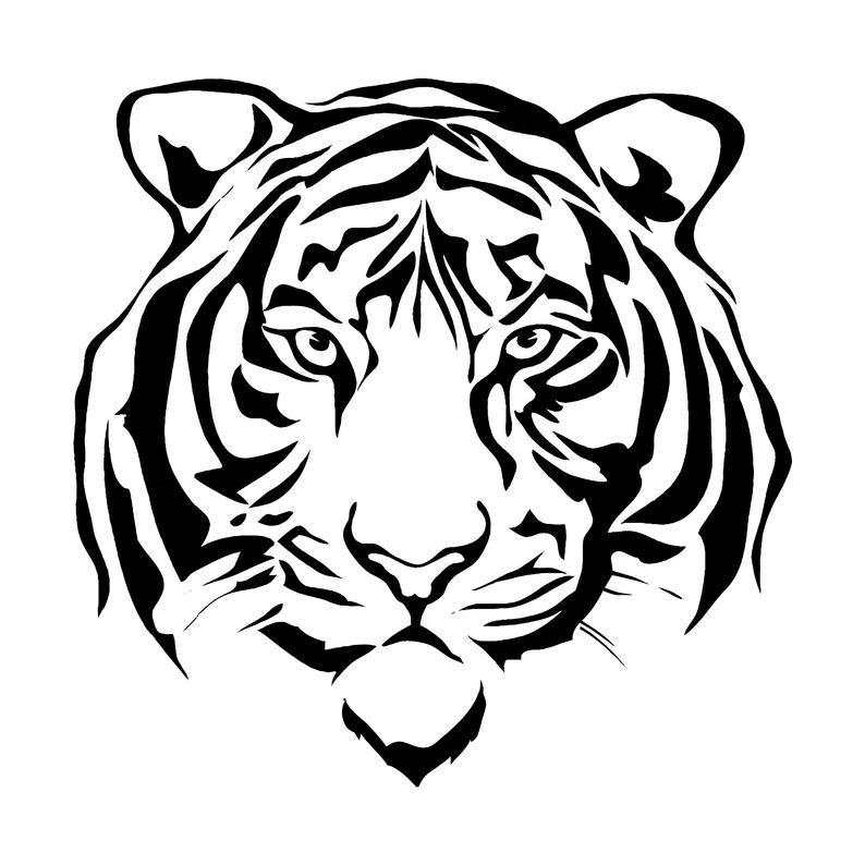 Tiger 9 Jaguar Leopard Big Cat Predator Logo Svg Eps Png Etsy Tiger Silhouette Tiger Face Drawing Black Wall Art