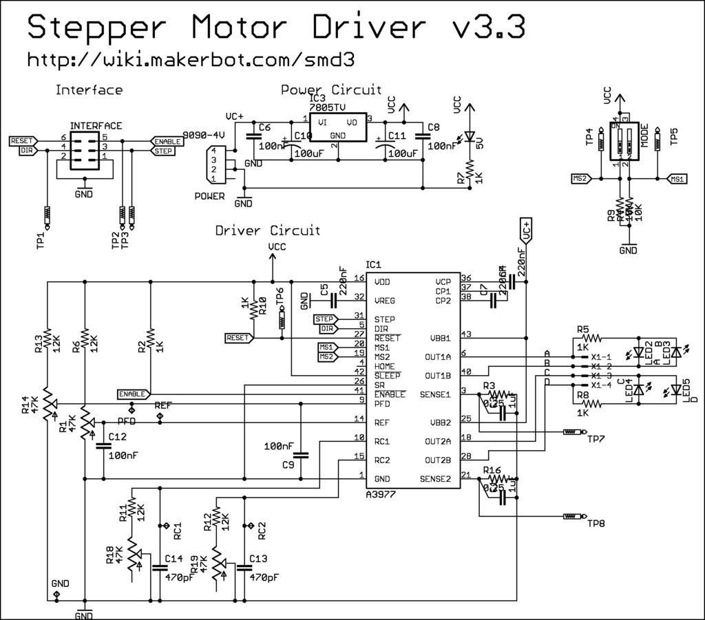 Stepper Motor Driver V3 3 By Makerbot