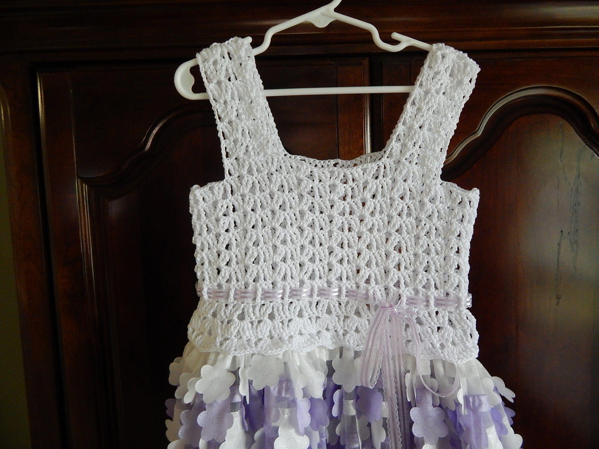 Blusa para Vestido 8 a 10 años Crochet  1d62056f4623