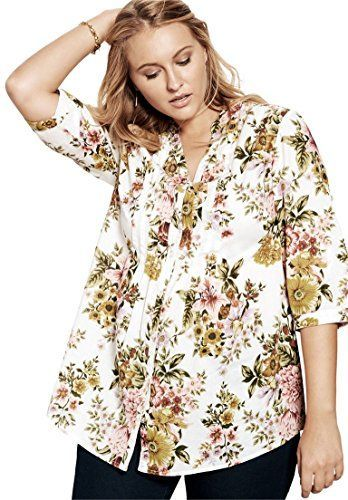 5e55be46daa 5 plus size floral shirts for romantic spring looks
