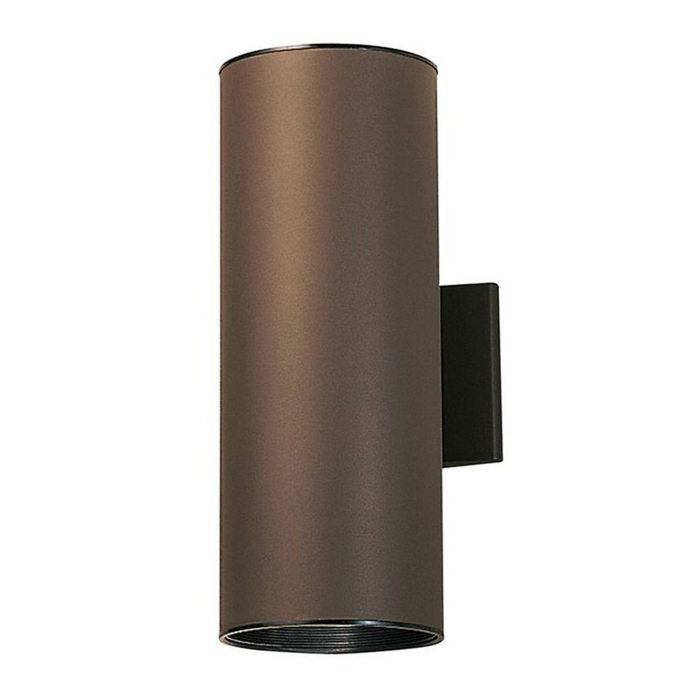 Kichler cylindrical up down wall wash with two led bulbs bulbs