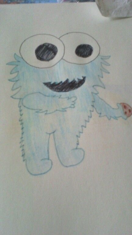 Cookie monster, draw