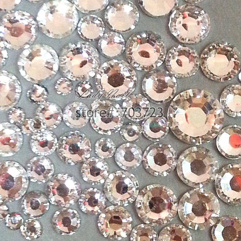 400 pcs 2mm - 6mm Resin Acrylic Clear Round Rhinestone Flatback Crystal  Rhinestones Nail Art Decoration 055c9f66118a