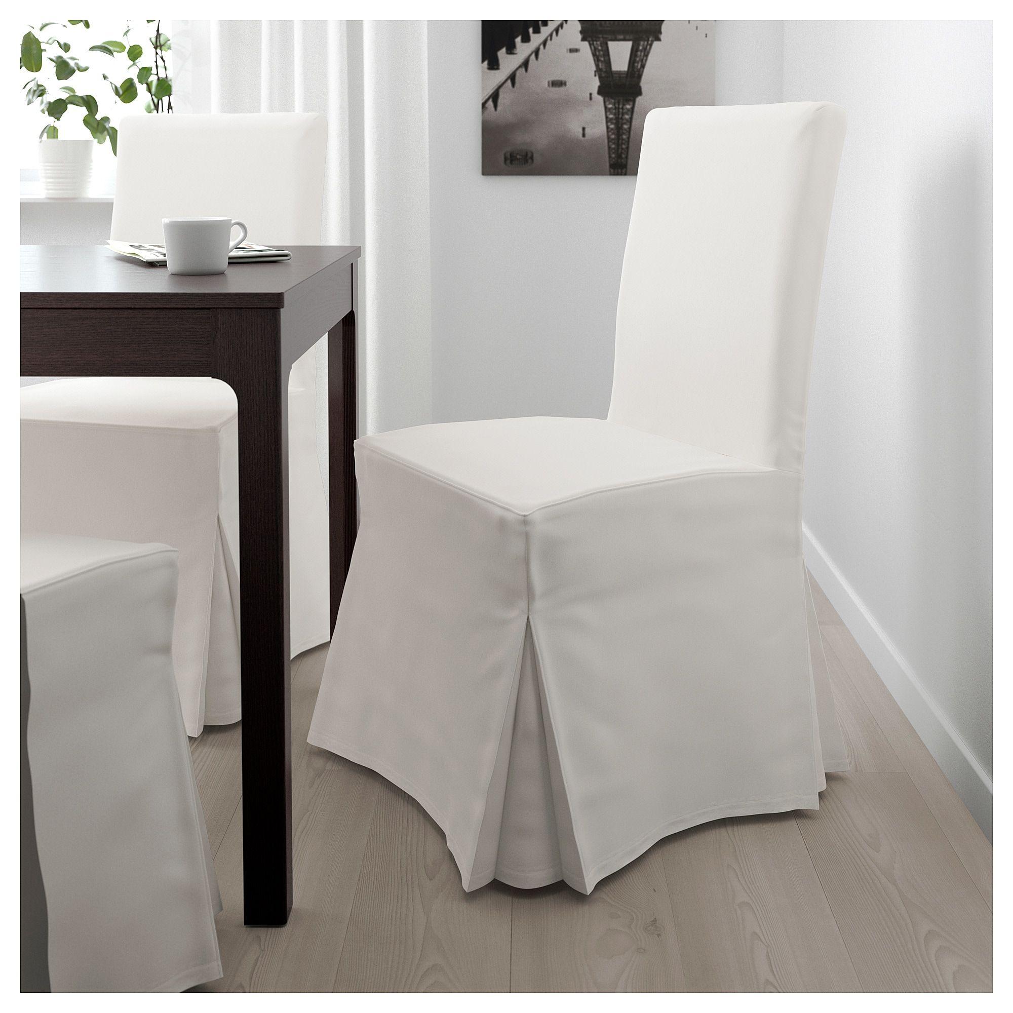 HENRIKSDAL Chair with long cover dark brown, Blekinge