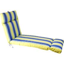 weeJordan Manufacturing Stripe Outdoor French Edge Chaise Cushion, Multiple Patterns