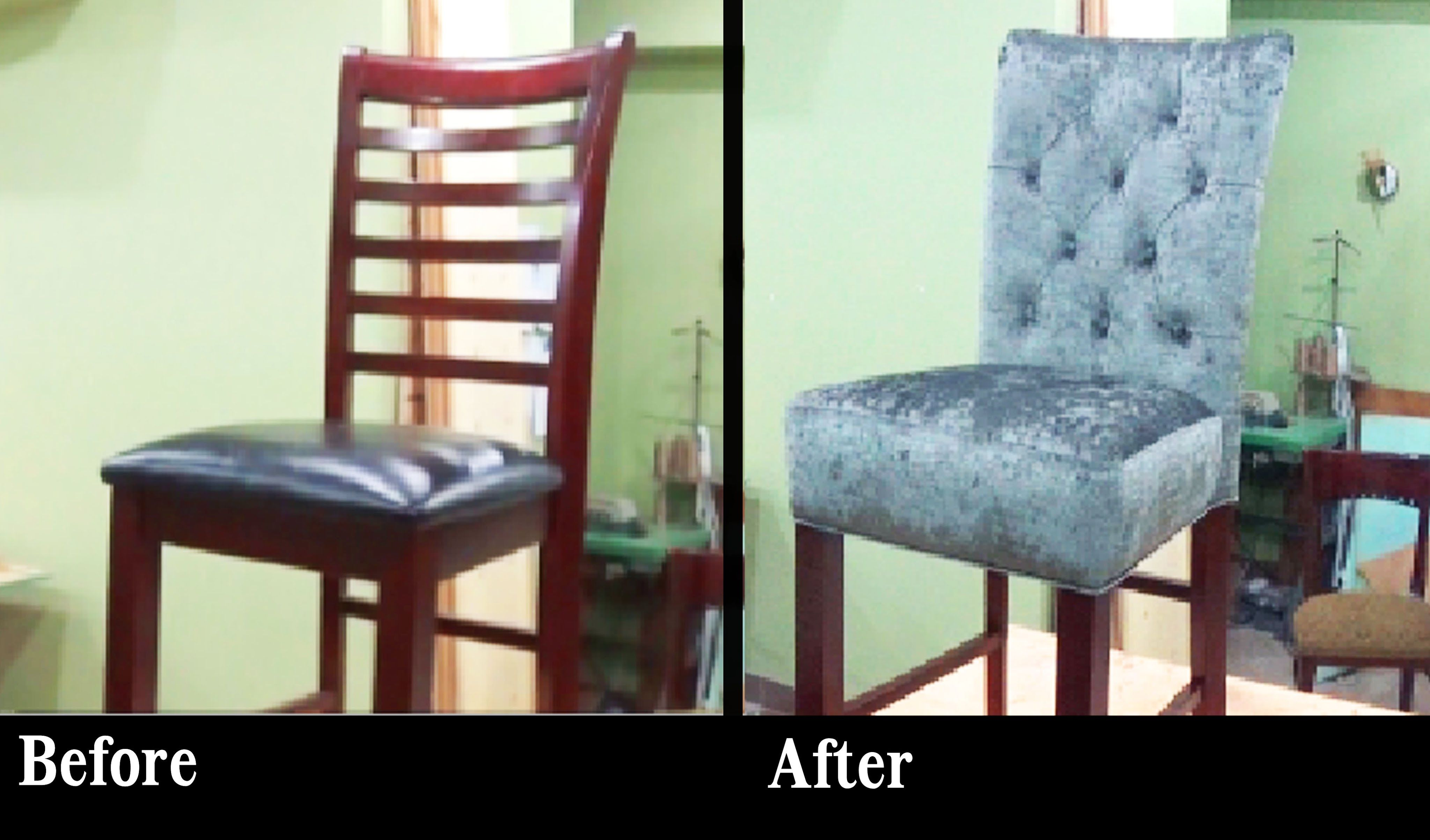 How To Reupholster A Bar Stool With A Built In Seat Alo Upholstery Stuhle Beziehen Mobel Restaurieren Wohnen