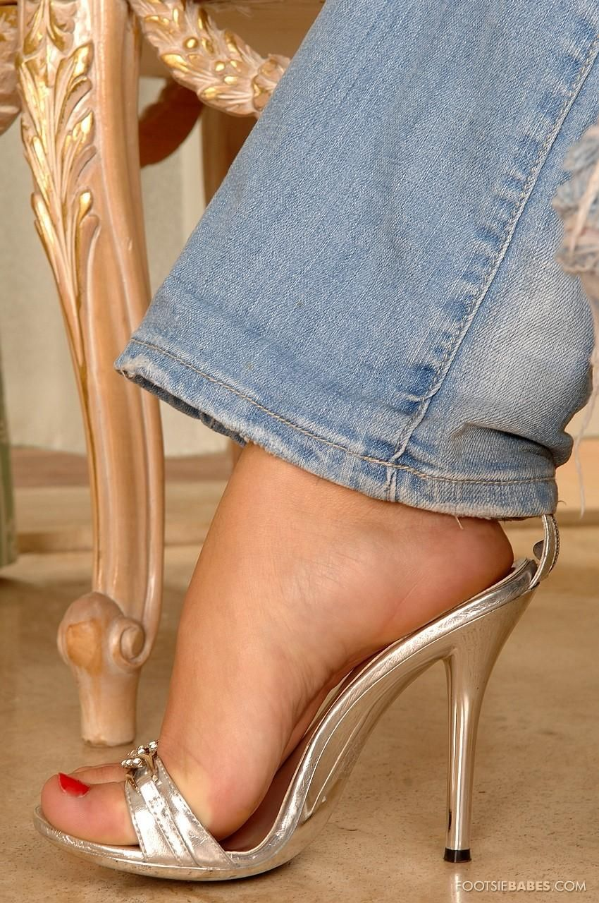 Stockings Heels Teen Feet