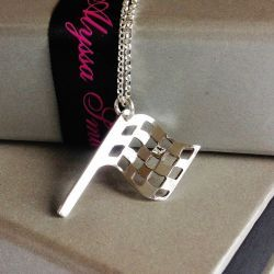 Silver Flag Necklace For Her As Seen On Suzi Perry