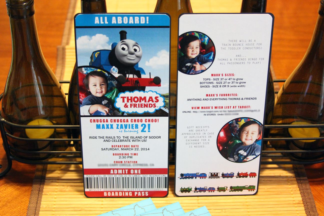 Thomas and Friends birthday invitations! Double-sided, handmade ...