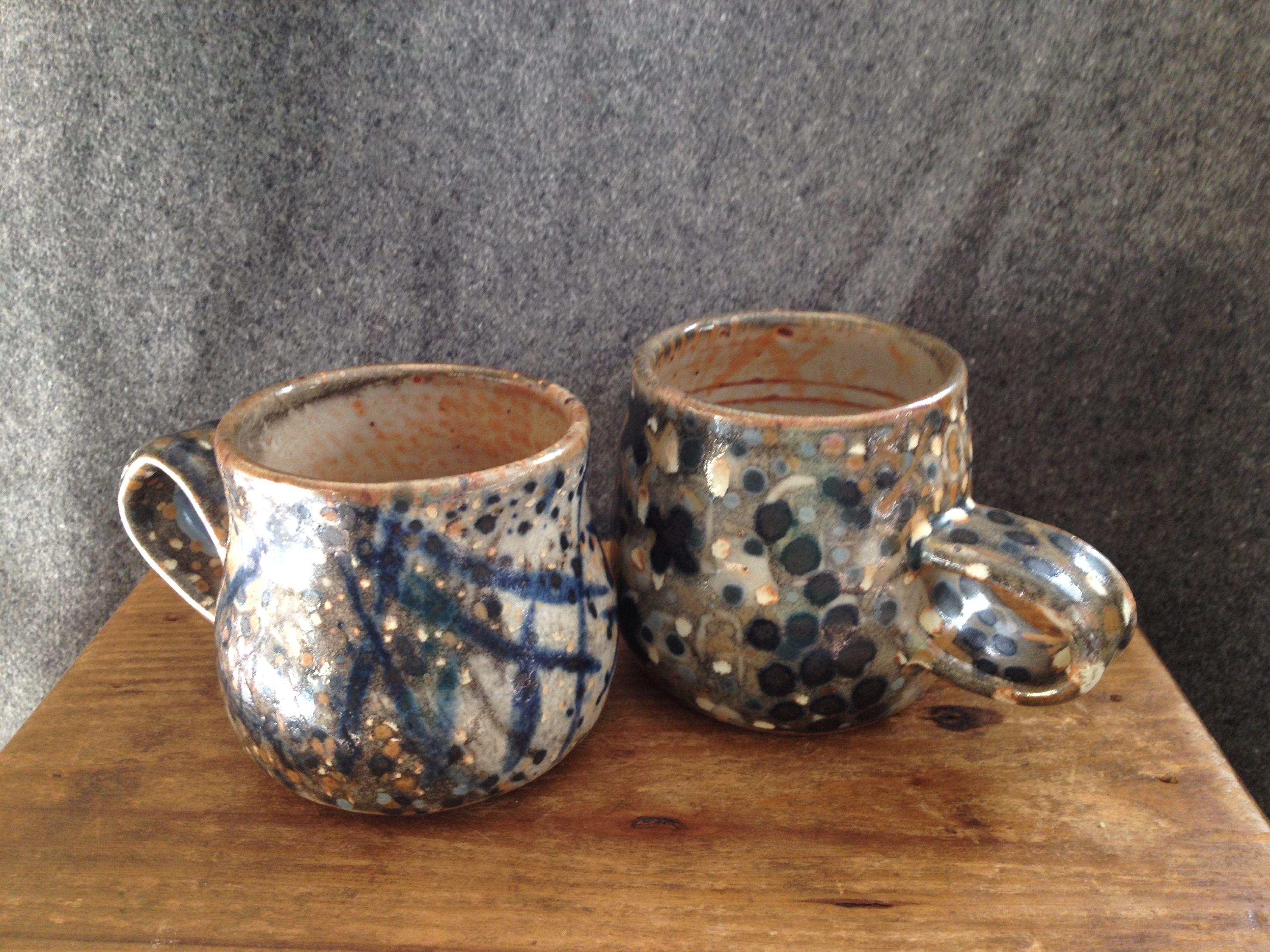 a couple of shino mugs